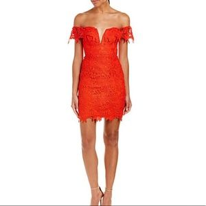 ASTR the Label Sheath Dress in red org